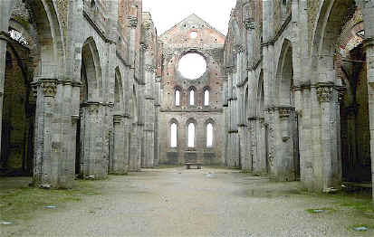 Nave of the Abbey of San Galgano